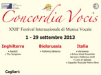 Concordia Vocis 2013 -  Events Tortoli' - Concerts Tortoli'