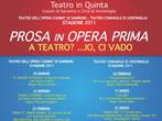 Prosa in opera prima -  Events Ventimiglia - Theatre Ventimiglia
