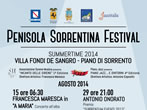 Penisola sorrentina festival -  Events Piano di Sorrento - Concerts Piano di Sorrento